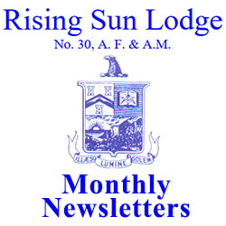 Rising Sun Masonic Newsletters